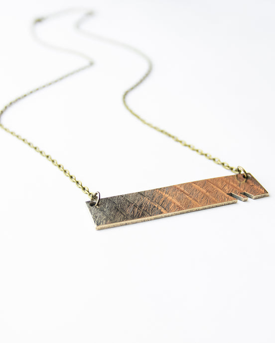 Edge - Reclaimed Cymbal Necklace