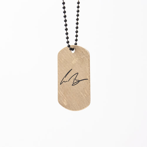 Gabe Barham Signature Dogtag Cymbal Necklace