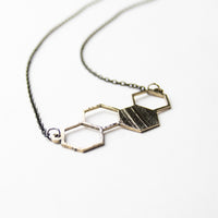 Load image into Gallery viewer, Hexagon - Reclaimed Cymbal Necklace