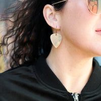 Load image into Gallery viewer, Arpeggio - Reclaimed Cymbal Earrings