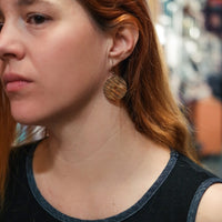Load image into Gallery viewer, Full Circle - Reclaimed Cymbal Earrings