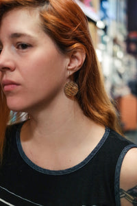 Full Circle - Reclaimed Cymbal Earrings