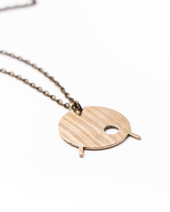 Kick Drum - Reclaimed Cymbal Necklace