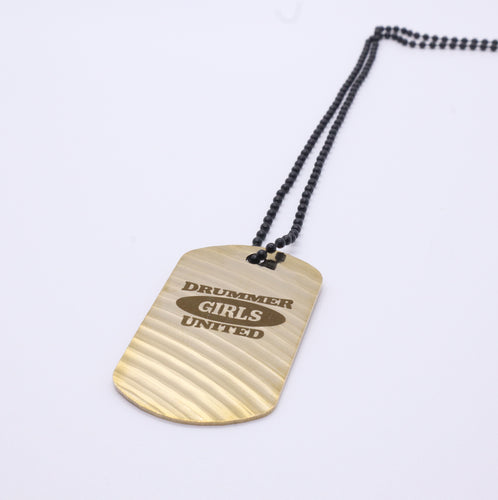 Drummer Girls United Dogtag - Reclaimed Cymbal Necklace