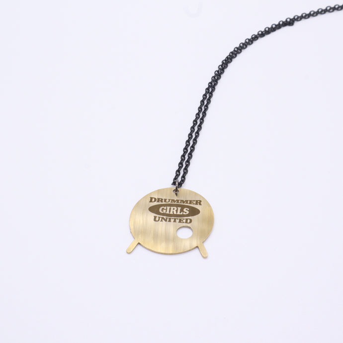 Drummer Girls United Kick Drum - Reclaimed Cymbal Necklace
