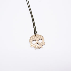 Skull - Reclaimed Cymbal Necklace