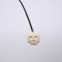Load image into Gallery viewer, Skull - Reclaimed Cymbal Necklace