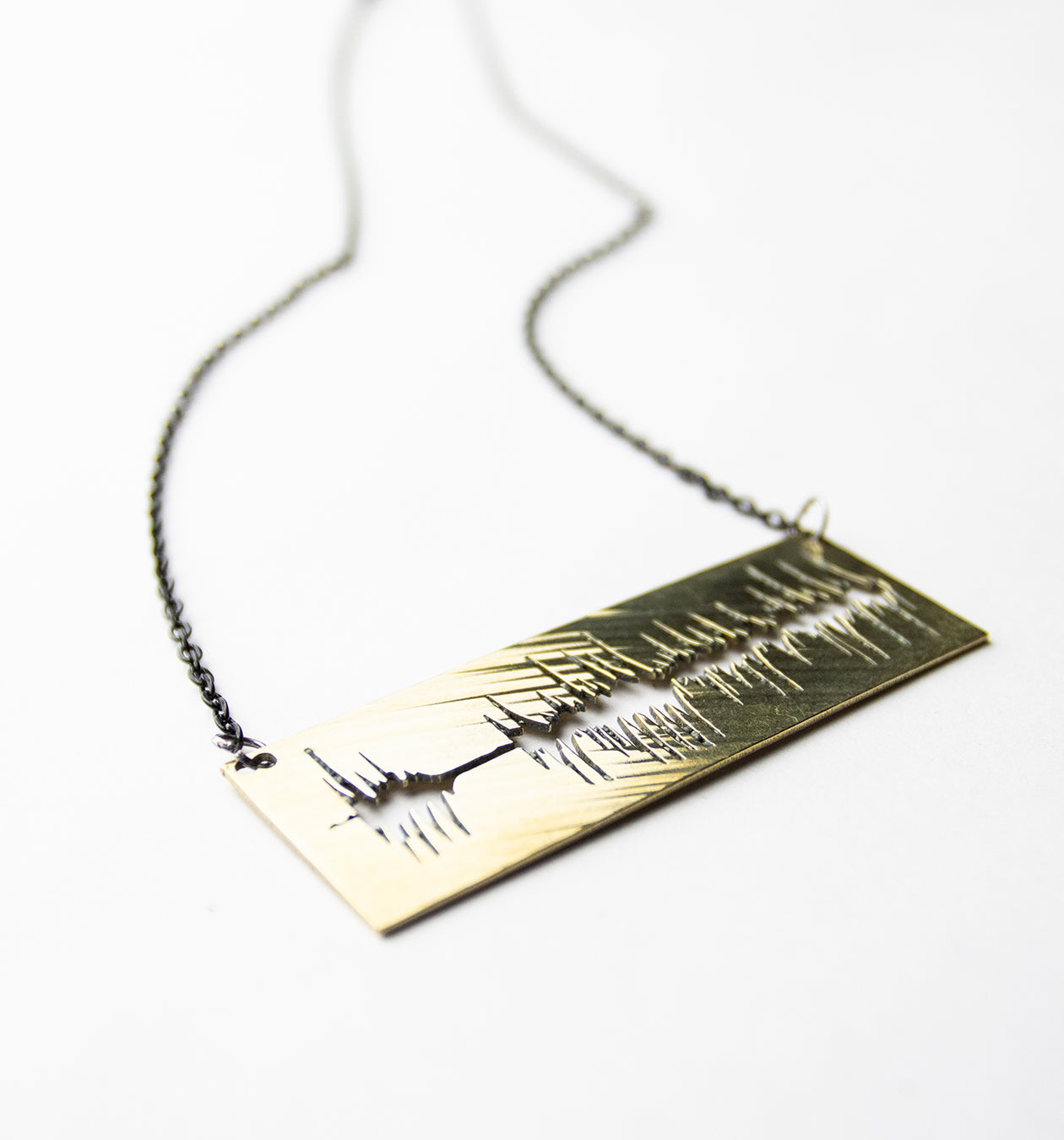 Soundwave - Reclaimed Cymbal Necklace