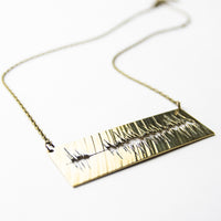 Load image into Gallery viewer, Soundwave - Reclaimed Cymbal Necklace