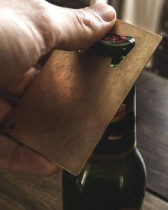 Card Carry  - Reclaimed Cymbal Bottle Opener