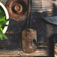 Load image into Gallery viewer, Dogtag Chain  - Reclaimed Cymbal Bottle Opener