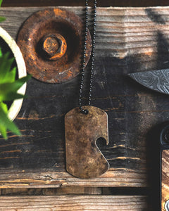 Dogtag Chain  - Reclaimed Cymbal Bottle Opener