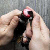 Load image into Gallery viewer, Keychain  - Reclaimed Cymbal Bottle Opener