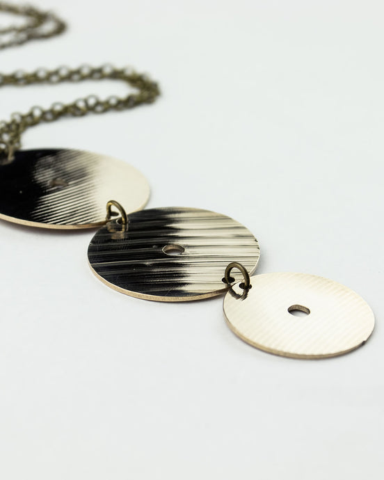 Full Circle - Reclaimed Cymbal Necklace