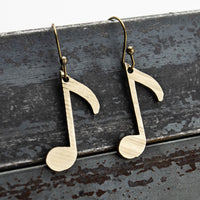 Load image into Gallery viewer, Off Beat - Reclaimed Cymbal Earrings