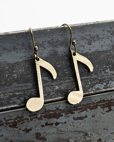 Off Beat - Reclaimed Cymbal Earrings