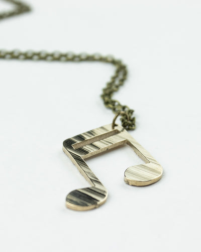 Sixteenths - Reclaimed Cymbal Necklace