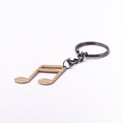 Sixteenths Keychain - Reclaimed Cymbal Accessory
