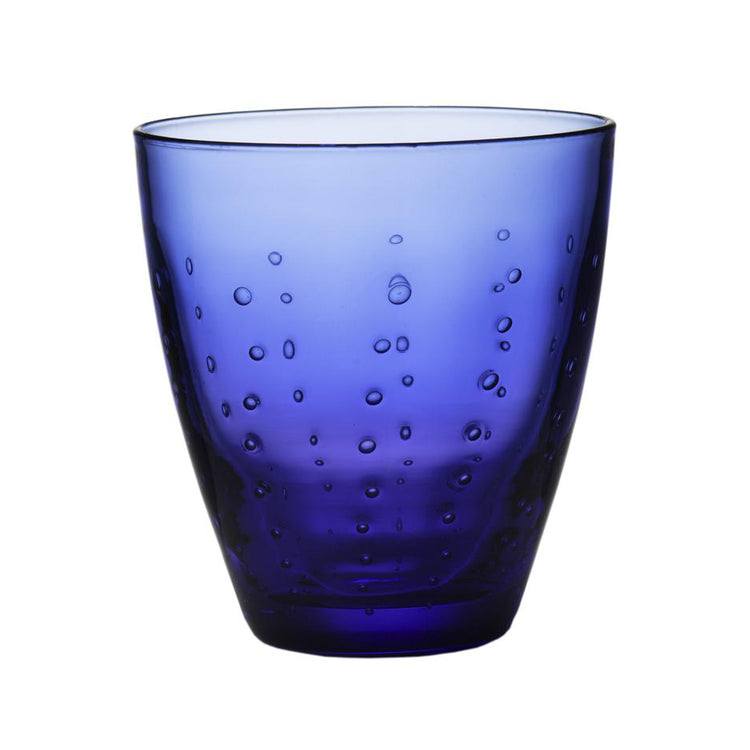 BLUE OLD FASHIONED GLASS