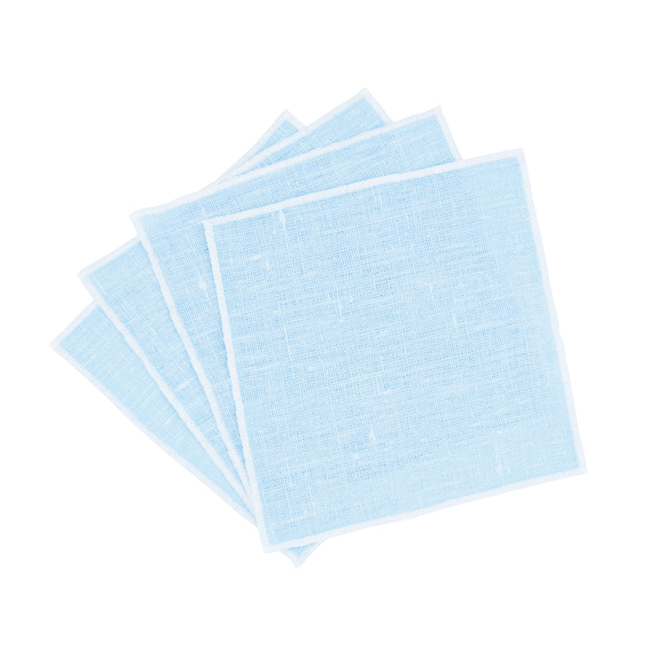 BLUE LINEN COCKTAIL NAPKINS