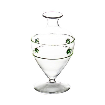 GREEN MEDALLION BUD VASE