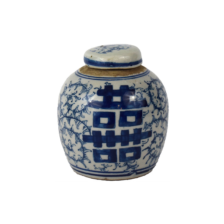 DOUBLE HAPPINESS LIDDED JAR