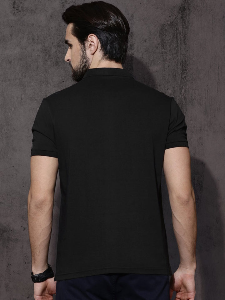 Mumbai Indian Polo Half Sleeve Black