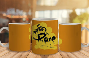 Life Ki Race Ceramic Mug, 350 Ml