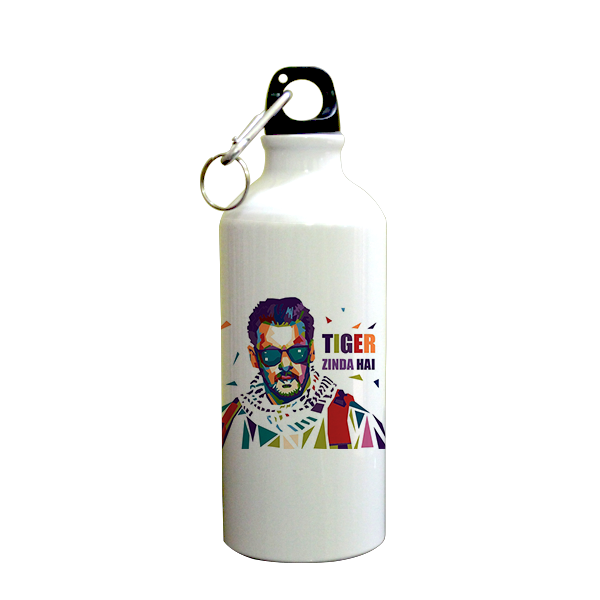 Ek Tha Tiger Printed Sipper (600ml, Aluminium)