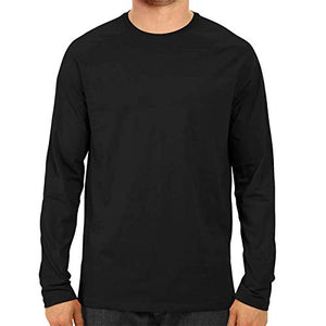 Unisex Basic Full Sleeve Plain Black T-shirt