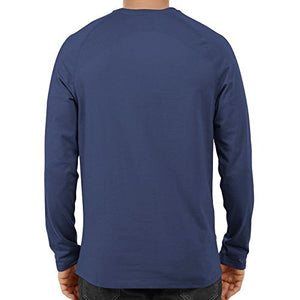 Unisex Basic Full Sleeve Plain Blue T-shirt