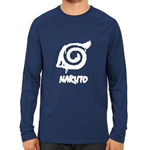 Unisex Naruto Full Sleeve Blue Cotton Tshirts