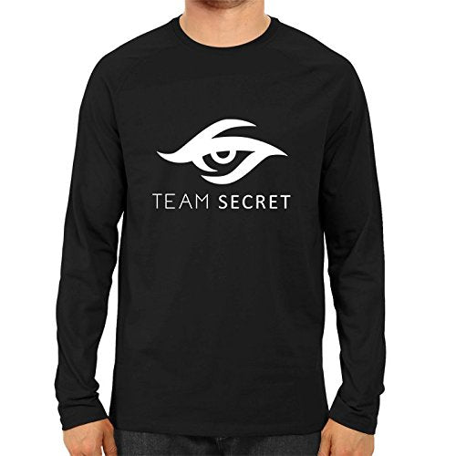 Unisex Team Screat Full Sleeve 100 % Cotton Black Tshirts