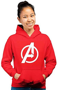 Avenger Unisex Printed Hoodie (Color-Red)
