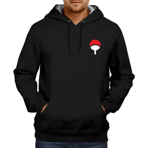 Naruto Uchiha Clan Logo | Anime Unisex Sweatshirt  Jacket 100% Cotton Hoodie