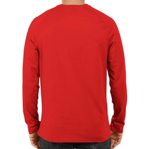 Unisex Basic Full Sleeve Plain Red T-shirt