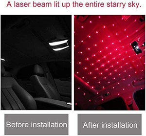 Roof Star Projector USB Portable Adjustable Flexible with Romantic Galaxy Atmosphere fit Car, Ceiling, Bedroom, Party