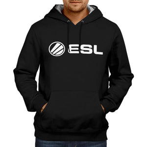 Team ESL Black Gaming Hoodie | Gameing Unisex Sweatshirt  Jacket 100% Cotton Hoodie (Black)