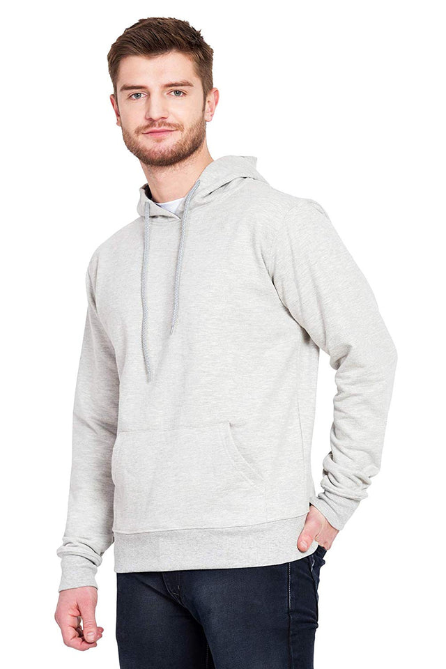 100 % Cotton Hoodies For Men | Grey Color