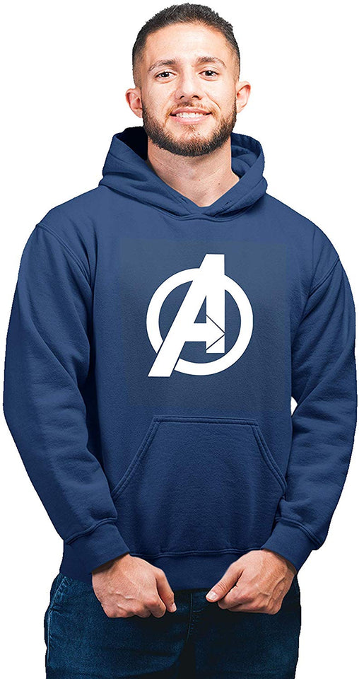 Avenger Unisex Printed Hoodie (Navy Blue Color)