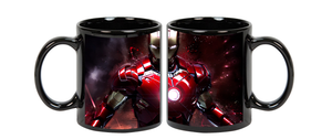 Ironmen Superhero Ceramic  Black  Mug, 350 Ml