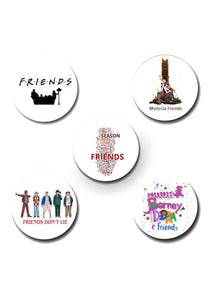 Friends Design Pin Badge Pack of 5