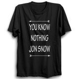 GOT-30 You Know Nothing Jon Snow Half Sleeve Black