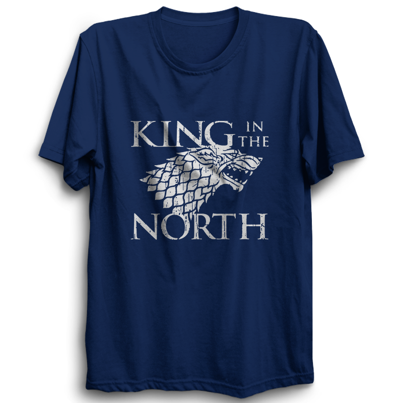 GOT-38 King In The North Half Sleeve Navy Blue