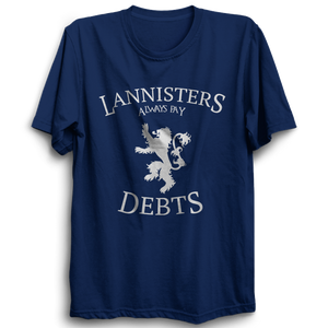 GOT-39 Lannister Always Pay Debts Half Sleeve Navy Blue