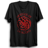 GOT-51 Mother Of Dragons Half Sleeve Black