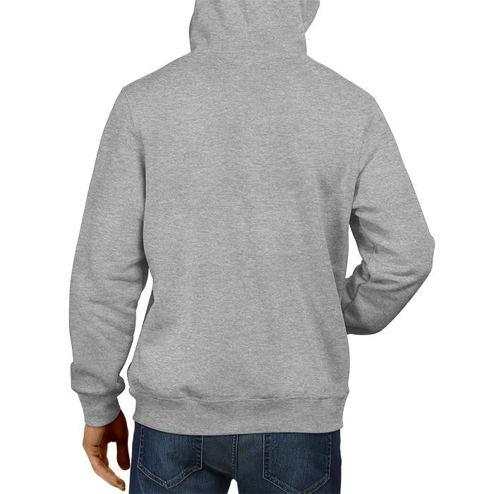 India Flag Grey Hoodie Unisex 100% Cotton Printed Hoodie ( Black)