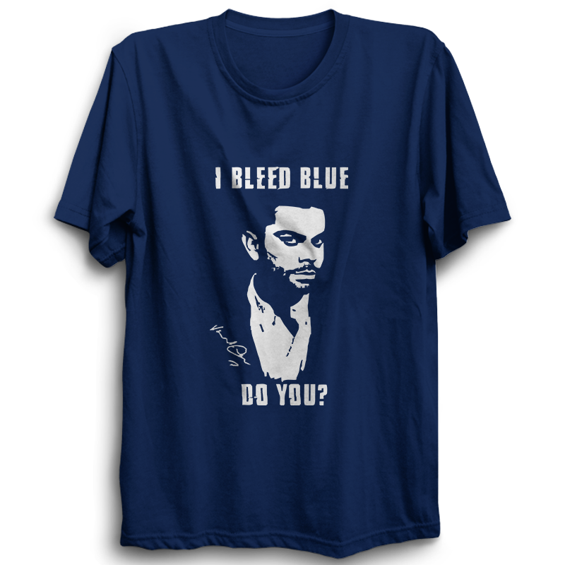 CRIC 16 -I Bleed Blue Do You?-Half Sleeve-Navy Blue