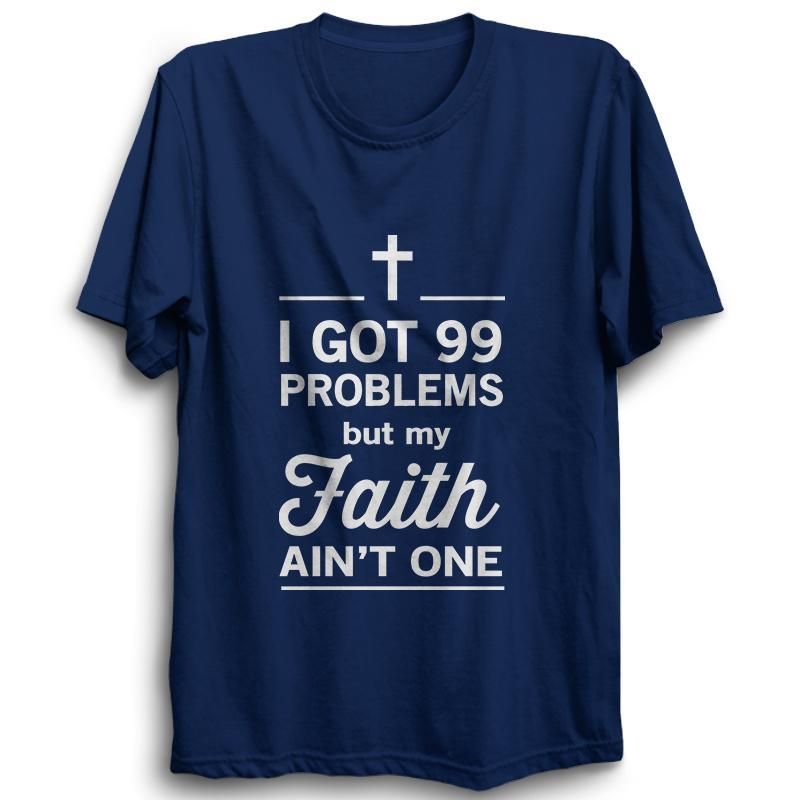 I Got 99 Problems -Half Sleeve Navy Blue