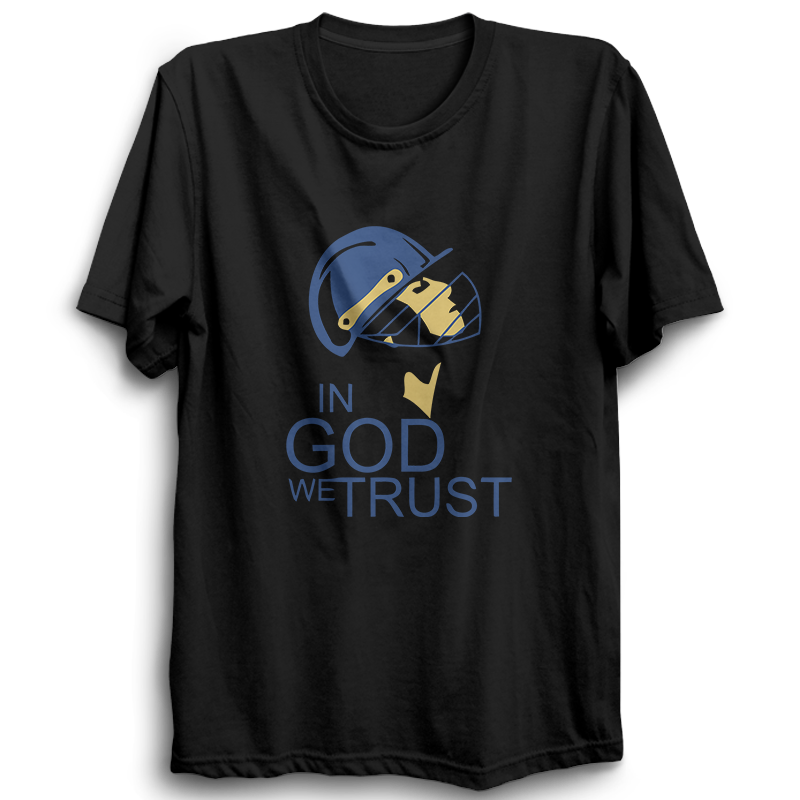 CRIC 32- In God We Trust-Half Sleeve Black